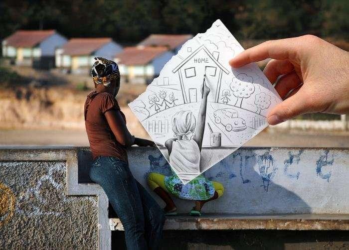 Фотография против карандашного наброска
