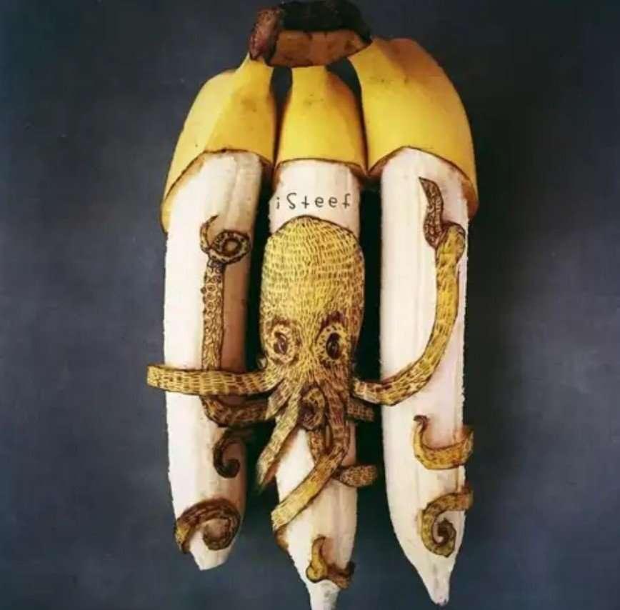 Иногда банан не просто банан: художник превращает фрукты в произведения искусства
