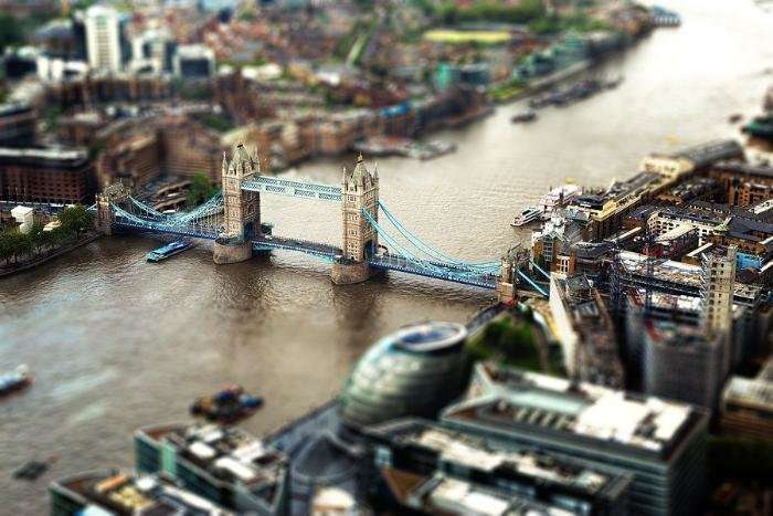 Знаменитые города в tilt-shift-фотографиях